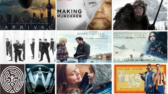 TOP TWELVE BESTEST FILMS AND TV SHOWS OF 2016