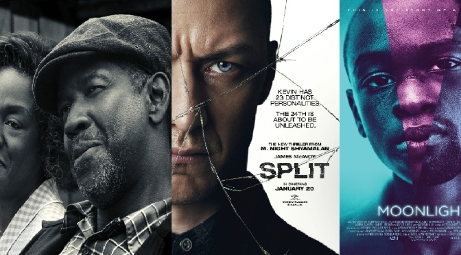 SCREENWASH ROUND-UP! REVIEWS OF: FENCES, MOONLIGHT & SPLIT
