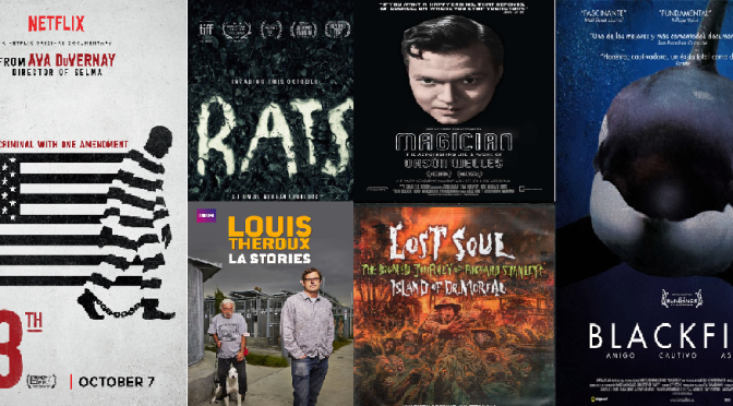 DOCUMENTARY FILM REVIEWS including: 13TH, RATS, THE WHITE HELMETS, BLACKFISH and more. . .