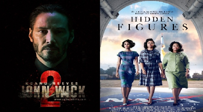 SCREENWASH FILM REVIEWS: JOHN WICK 2 (2017) & HIDDEN FIGURES (2016)