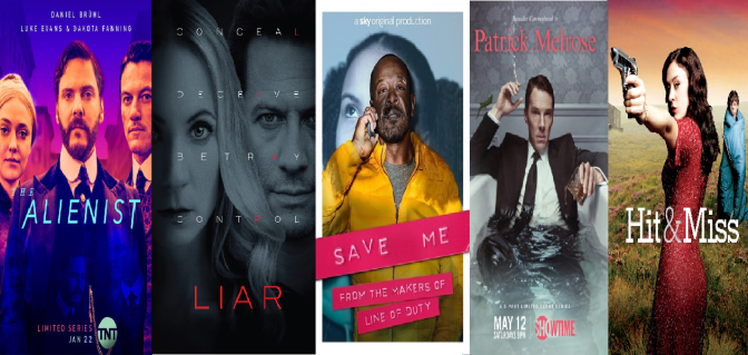 SCREENWASH TV DRAMA ROUND-UP (JULY 2018) INC. REVIEWS OF: PATRICK MELROSE, LIAR, THE ALIENIST ETC.