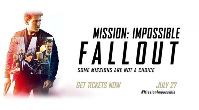 MISSION IMPOSSIBLE BINGO incorporating: FALLOUT (2018) MOVIE REVIEW