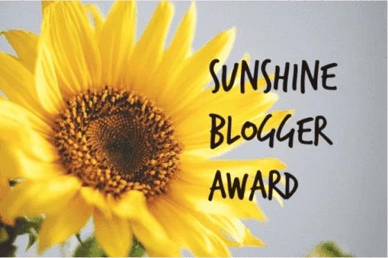 SUNSHINE BLOGGER AWARD – A THANK YOU!